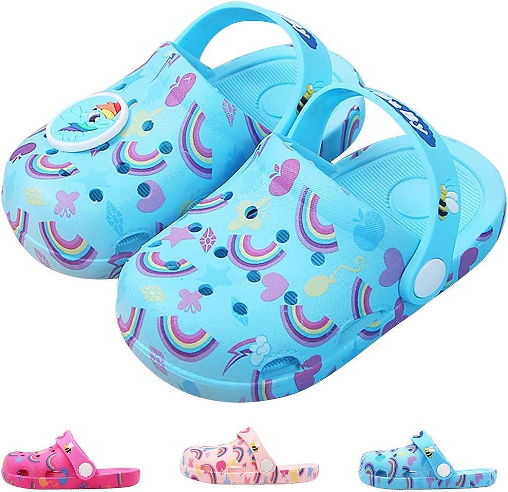 Toddler Boy Girl Summer Cartoon Rainbow Sandals Kids Shower Slippers Shoes Size