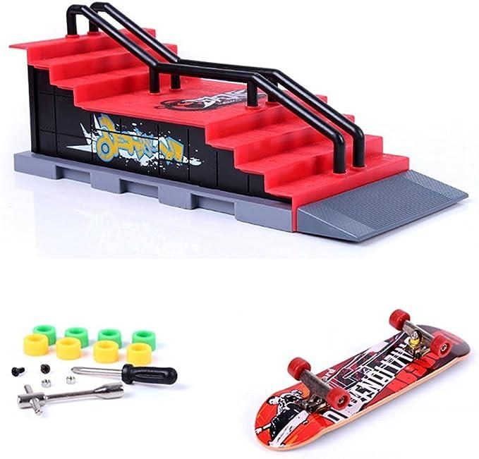 Ultimate Parks HoneybeeLY Skate Park Kit Ramp Teile f/ür Fingerskateboard Training Requisiten und Fingerboards