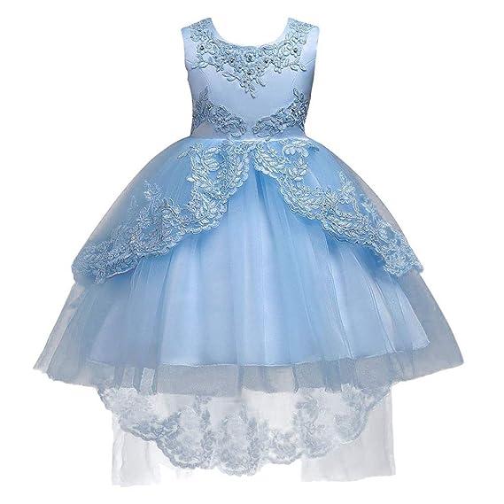 Meyini Vestidos De Fiesta Para Niñas De 3 A 15 Años Sin