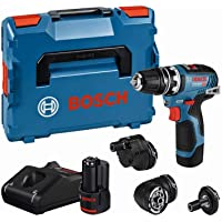 Bosch Professional 12V sladdlös borrskruvdragare GSR 12V-35 FC (inkl. 2x 3,0 Ah-batteri, snabbladdare GAL 12V-40, fyra…