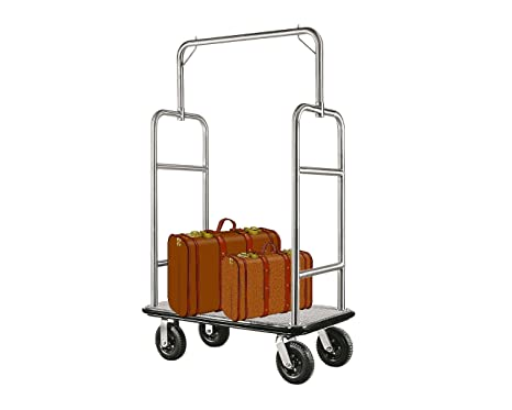 Equipaje carrito transportador Hotel coche maleta coche furgoneta Hotel necesidades cuadrado gris plata