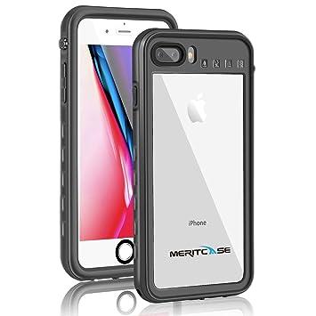 2409a6d871 Merit iPhone8 Plus ケース iPhone7 Plus ケース 防水ケース リング付き スタンド機能 防塵 耐衝撃