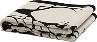 product image for in2green Stag Longhorn Eco Throw - Flax/Black