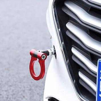 Red Muy pr/áctico del Conector del Remolque y Accesorios NICETOURNE Frente de Aluminio Posterior Auto Kit de Remolque Gancho de Coches Remolque Kit Anillo del Gancho para el Coche japon/és Europea