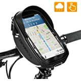 Bike Bicycle Phone Mount Bags - Waterproof Front Frame Top Tube Handlebar Bags with Touch Screen Phone Holder Case…