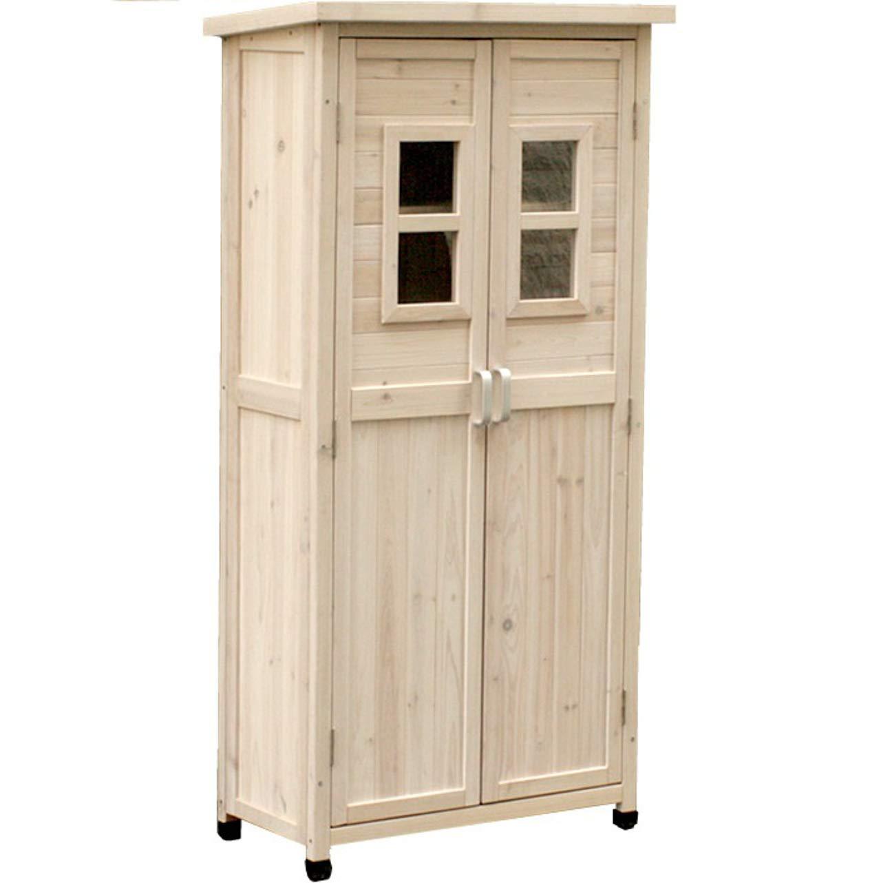 収納庫 ベランダ 薄型 屋外 物置 木製 物置き スリム ホワイト 高さ160cm B07G545HXM ホワイト 高さ160cm