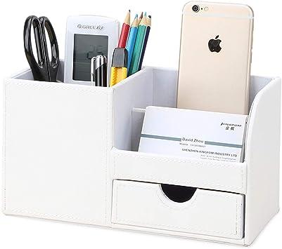 StiftehalterHolzBoxArbeitDeko Briefbox Weiß Schreibtisch Organizer