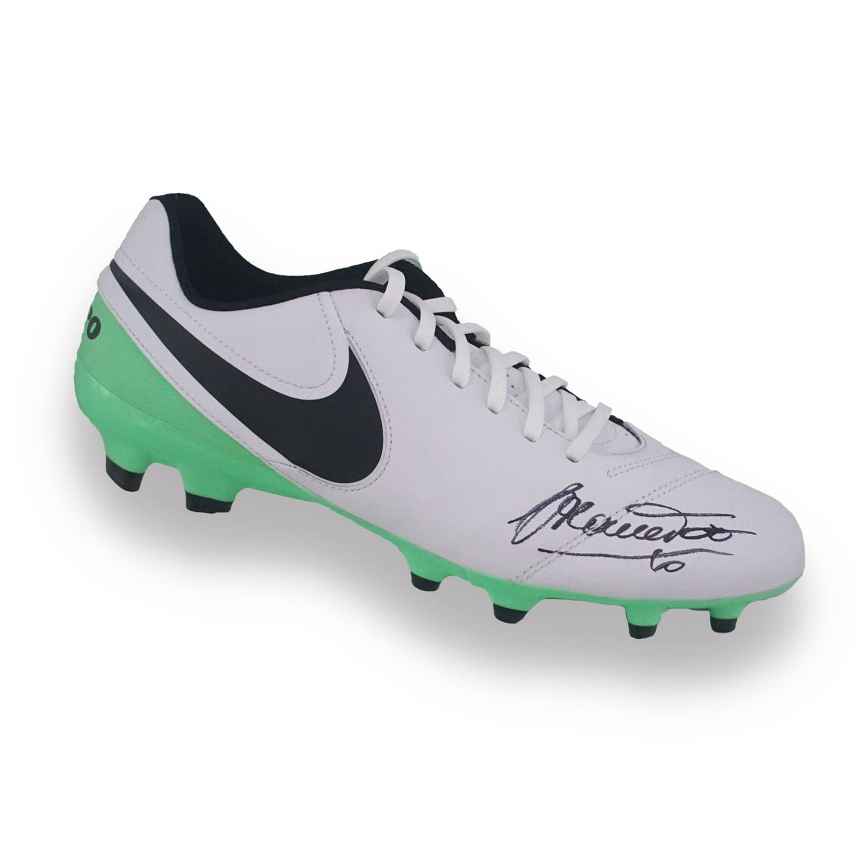 Francesco Totti Signed Tiempo Soccer Shoe Exclusive Memorabilia