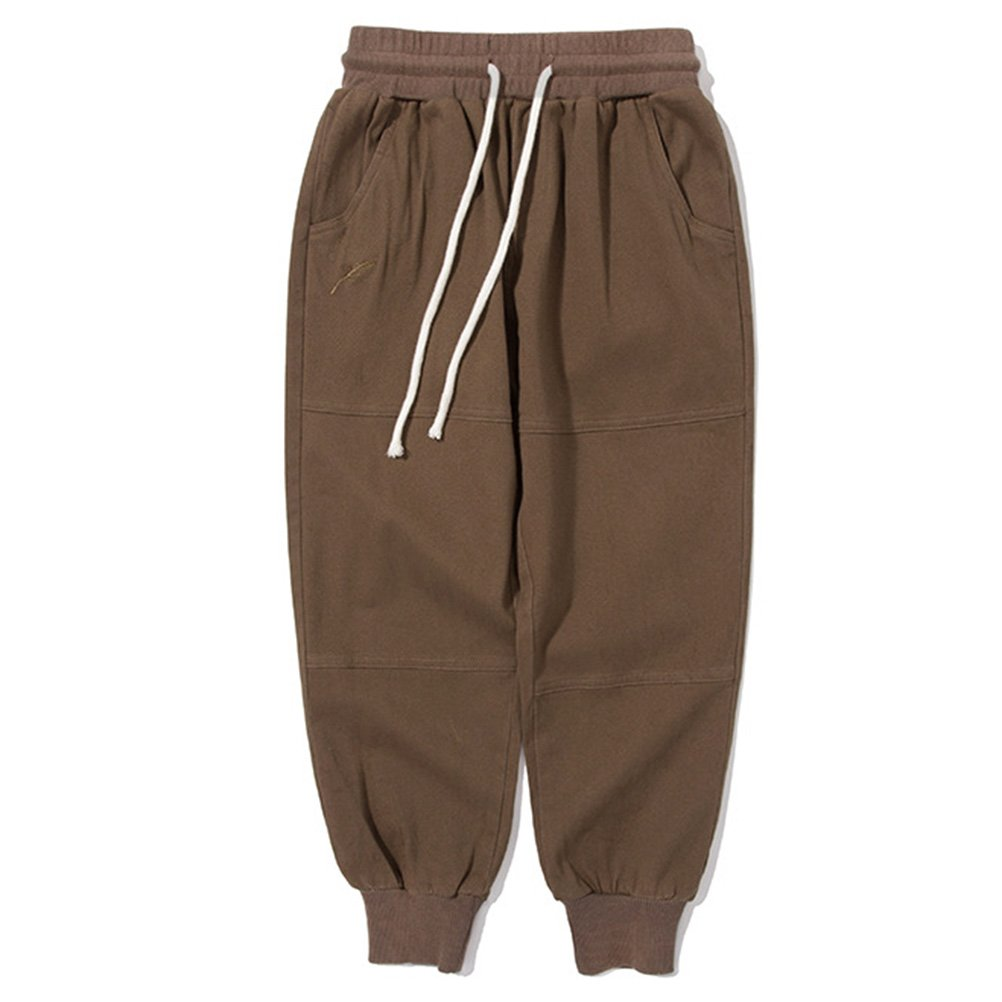 Y/·J Back home Boys Twill Chino Jogger Pant Kids Cotton Trousers with Drawstring 3-8 Years