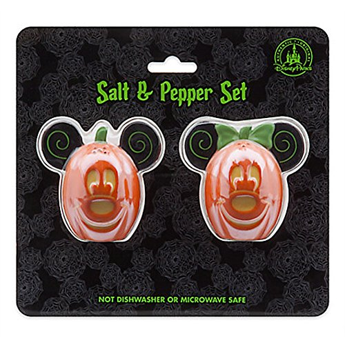 Disney Parks Mickey Minnie Mouse Pumpkin Halloween Salt Pepper Shakers by disney (Image #1)