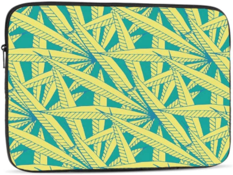 Natural Colorful Art Cannabis Leaf Pattern 15 Inch to 15.6 Inch Laptop Sleeve Carrying Case Neoprene Sleeve for Acer//asus//dell//Lenovo//MacBook Pro//hp//Samsung//Sony//Toshiba