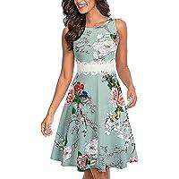 158e8c7966 Mysky Fashion Women Retro Floral Print Waist Embroidery A-Line Wedding Dress  Ladies Cute Gown