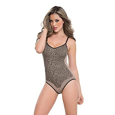 d6cf77c178 Perfect Shapers Seamless Animal Print Bodysuit Shapewear at Amazon ...