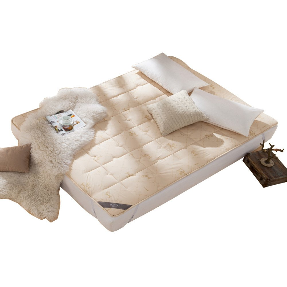 Textile wool mattress mattress 1.8m bed thicken pad quilt anti-skidding collapsible 1.5m tatami mats double -A Queen2