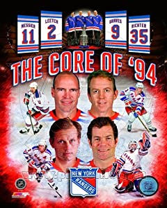 New York Rangers Core of 94 Stanley Cup Composite Photo 8x10
