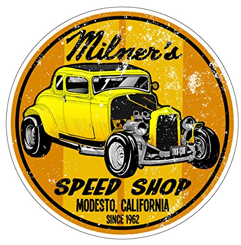 Trooperbay Milner's Speed Shop American Graffiti Drag Racing Hot Rod Decal Bumper Sticker