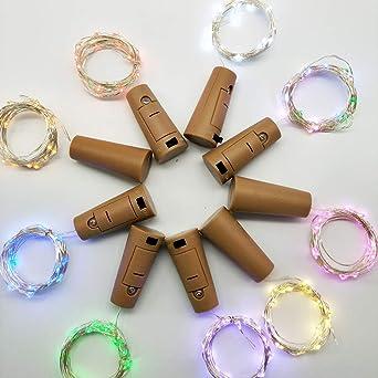 Luces de Cuerda de Hadas, Tapa de Botella Tapón de Botella Caja de Batería Luz de Cadena de Alambre de Cobre Luz Decorativa a Prueba de Agua Del Festival: Amazon.es: Iluminación