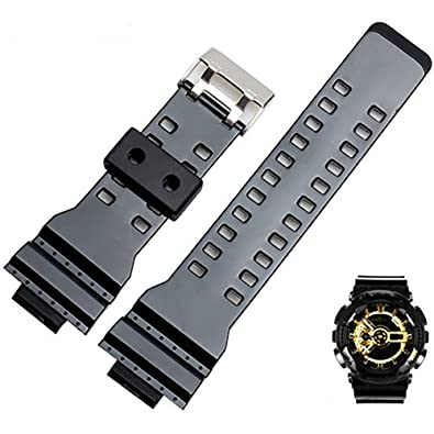 34929e0e79bf Span Realm Water Proof Silicon Soft Watch Strap Natural Resin Replacement  Watch Band Strap for Casio