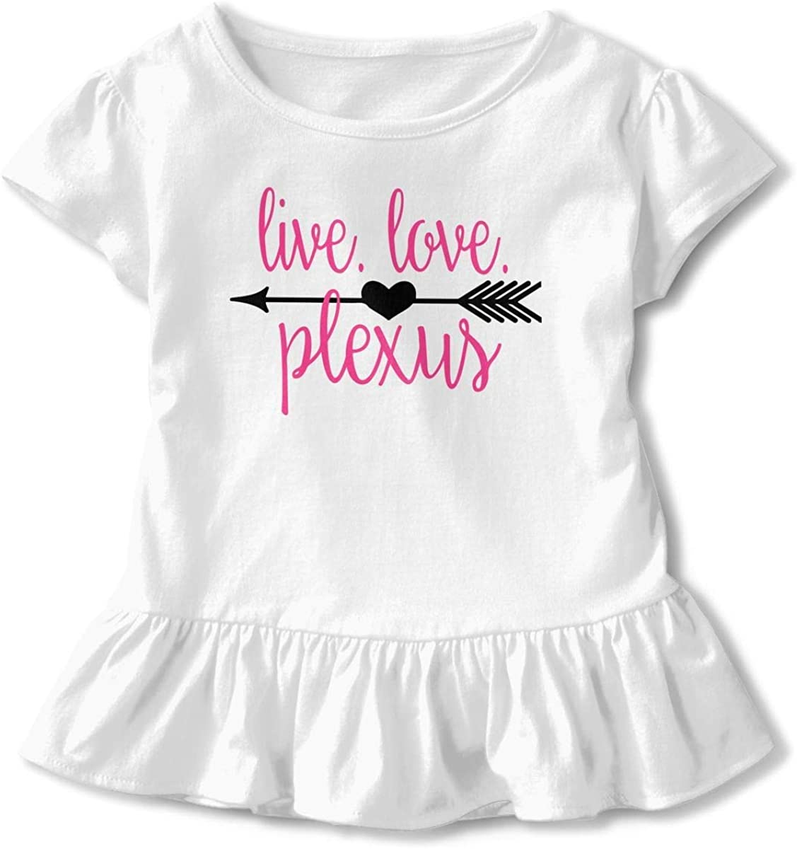 Toddler Baby Girl Live Love Plexus Funny Short Sleeve Cotton T Shirts Basic Tops Tee Clothes