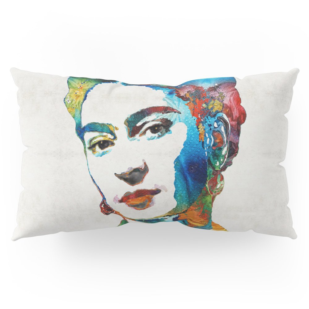 Society6 Frida Kahlo Art - Viva La Frida - By Sharon Cummings Pillow Sham King (20'' x 36'') Set of 2