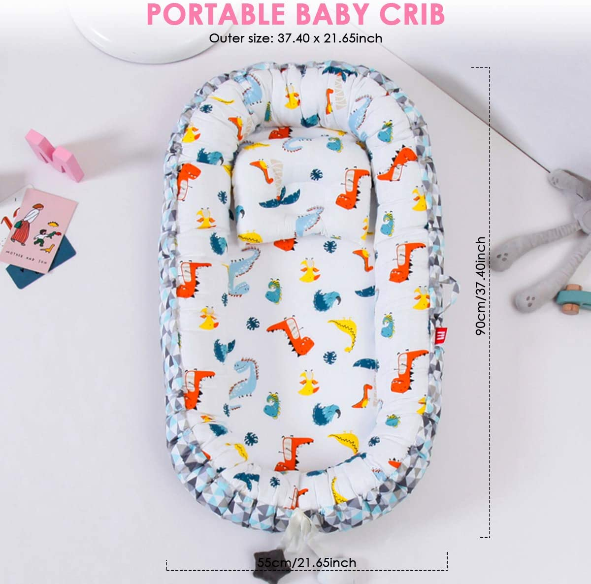 Yinuoday Baby Nest for Newborn and Babies,Baby Pod Baby Bassinet Portable Baby Lounger Infant Co-Sleeping
