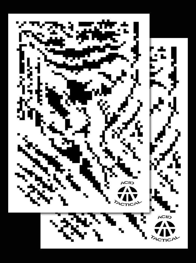 Ácido táctica ®, 2 unidades - 23 x 35 cm individual diseño de ...