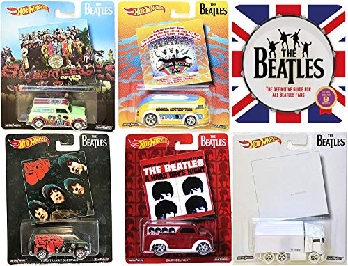 Collectors The Beatles Hot Wheels Album Covers Pop Culture Collectibles +Tin Book & Face Magnets - The White Album / Rubber Soul / A Hard Days Night / Magical Mystery Tour / Sergeant Peppers