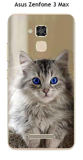Carcasa Asus Zenfone 3 Max ze520 TL Design gatito con ojos ...