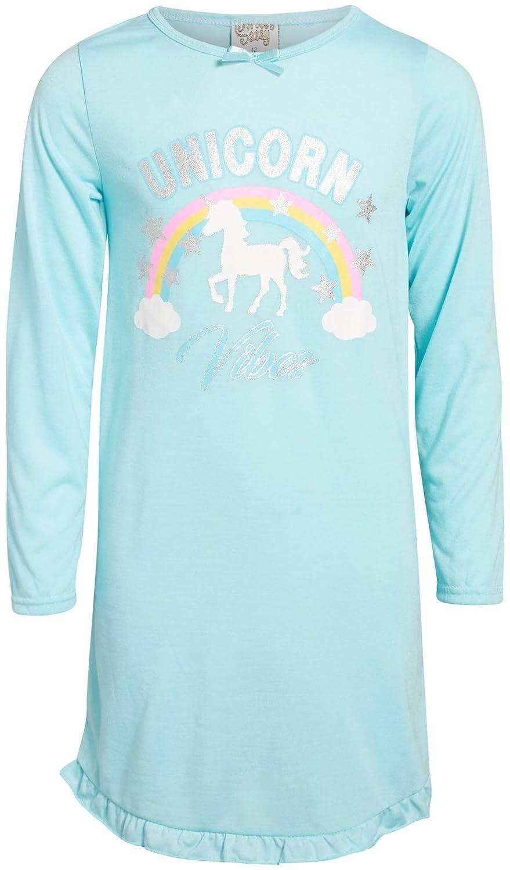 Sweet /& Sassy Girls Sleepwear Nightgown Pajamas with Unicorn Prints 2 Pack