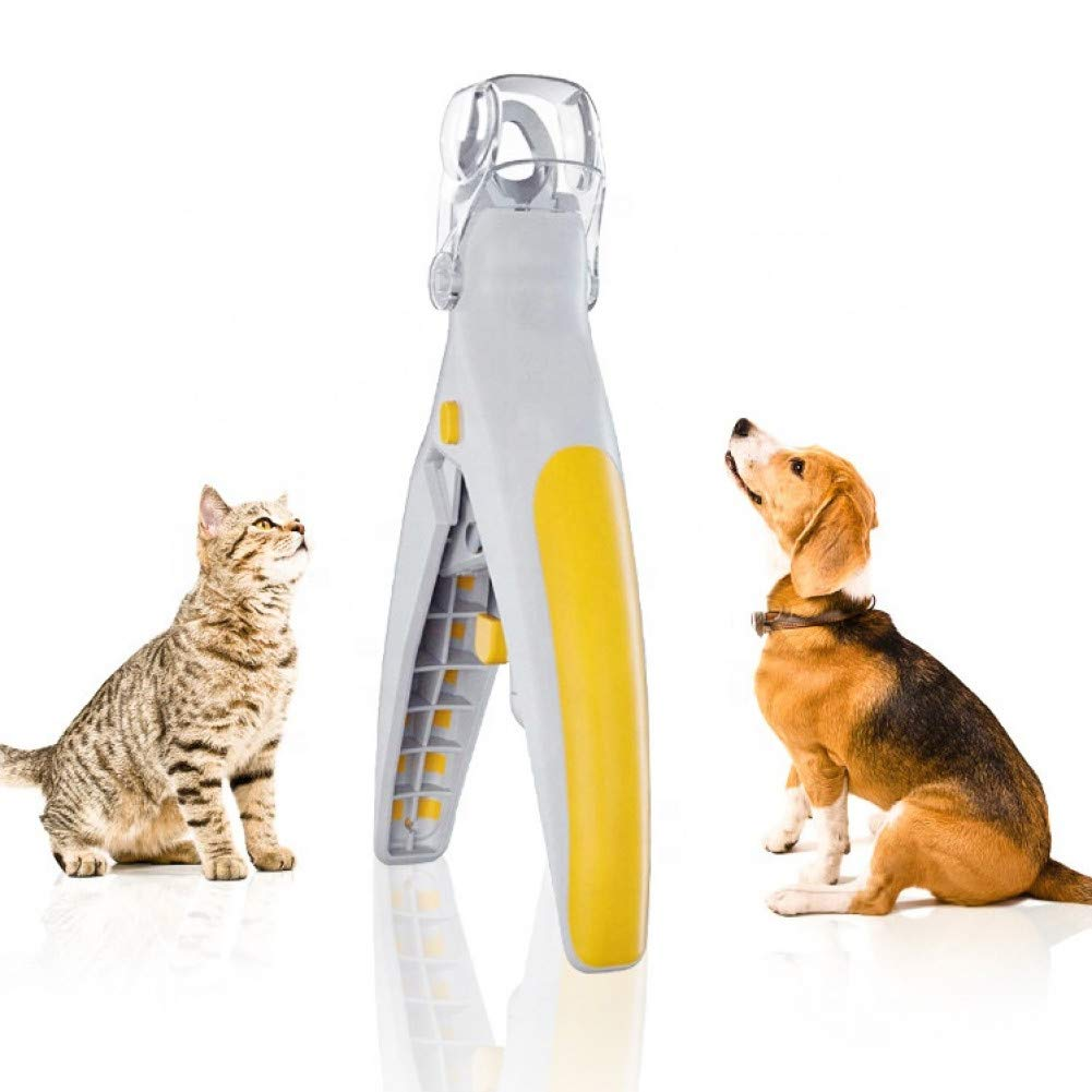 1 XIPBL Pet Nail Clippers Hair Brush Pet Nail Clippers with Led Light