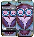 GelaSkins iPh5-SleepyOwl GelaSkins for iPhone 5 - 1 Pack - Retail Packaging - Sleepy Owl