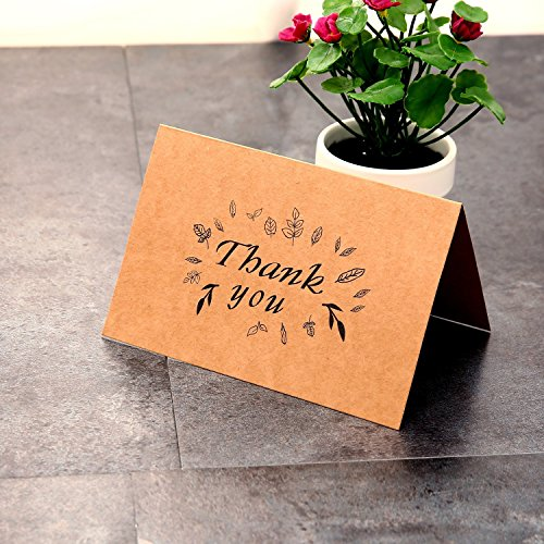 Thank You Cards Multipack Ohuhu 36 Pack Brown Kraft Paper Thank You Cards Thank U Greeting Card W// 36 Kraft Paper Envelopes for Wedding 10X15.2cm Graduation