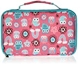 Fit & Fresh Insulated Bento Box Lunch Kit, Rainbow Owls