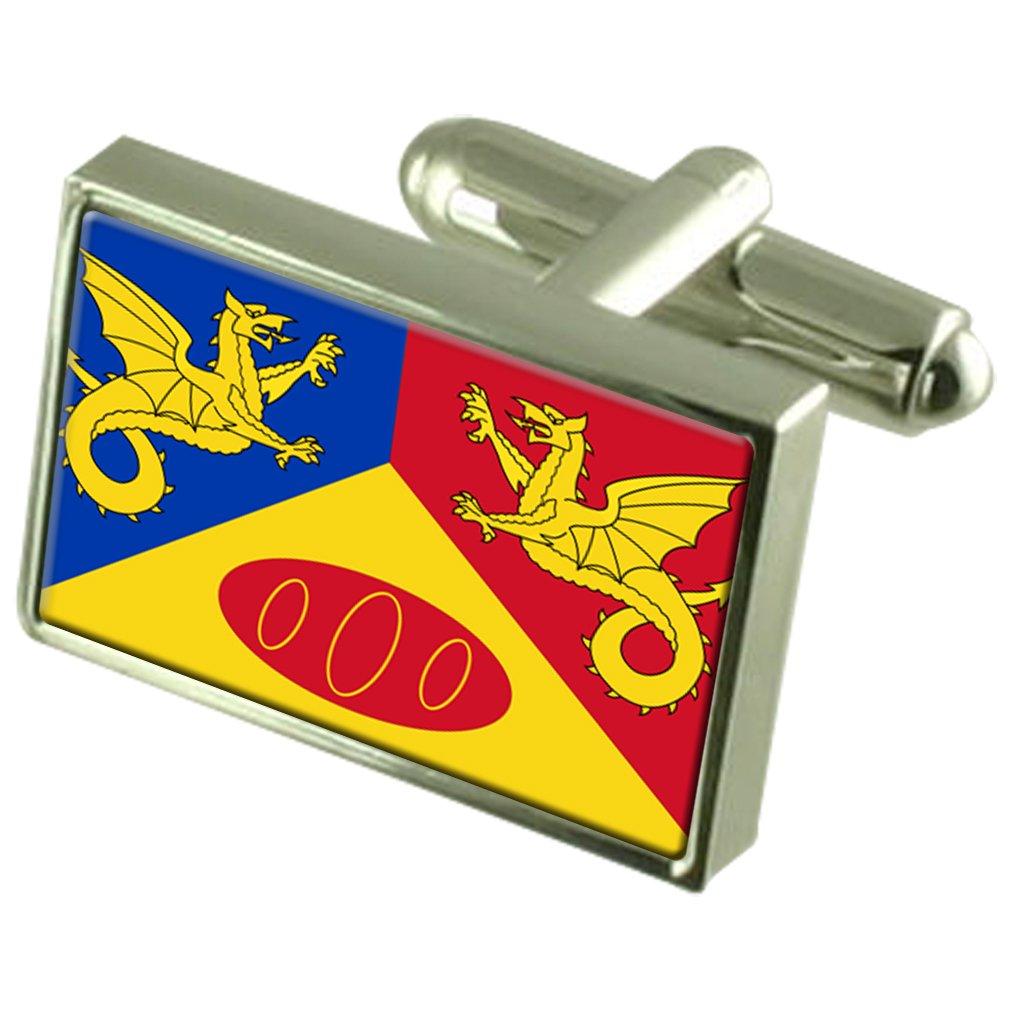 Select Gifts Craig Y Dorth City England Flag Cufflinks Engraved Box