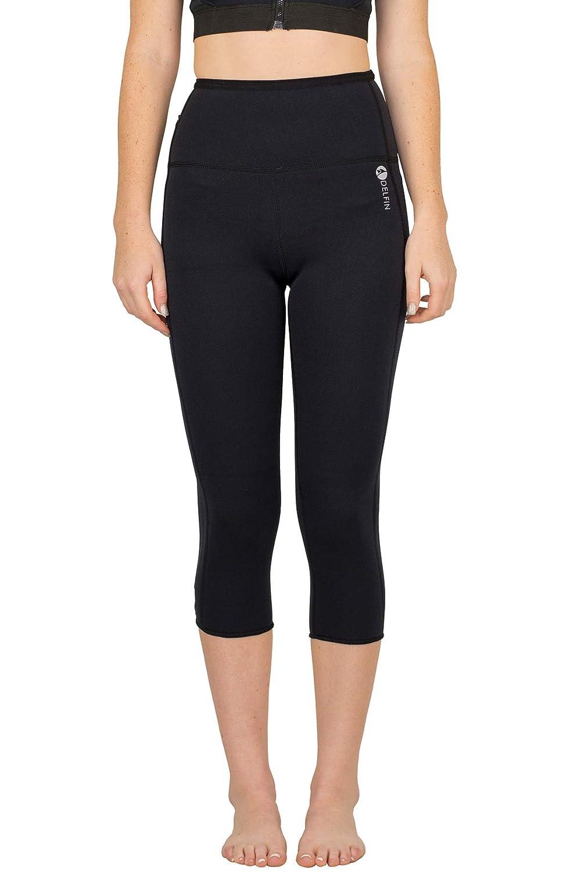 a3659f6ad Amazon.com  Delfin Spa Women s Heat Maximizing Neoprene Workout Capris   Clothing