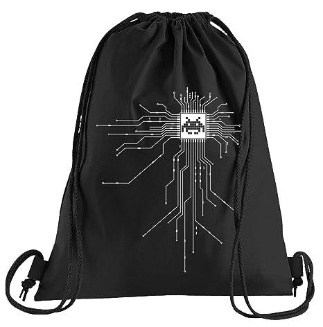 Camiseta de People Nerd CPU Cyborg Ordenador Chip Bolsa de ...