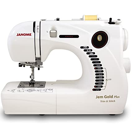 Amazon Janome Jem Gold Plus Portable Sewing Machine With Light Classy Sewing Machine Serger Attachment