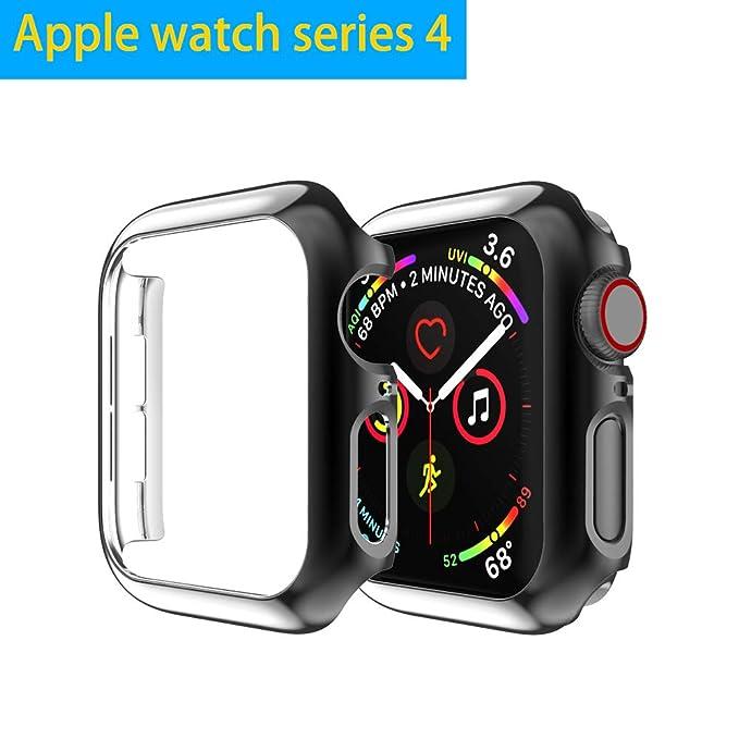 Belyoung - Carcasa para Apple Watch Series 4, chapada en ...