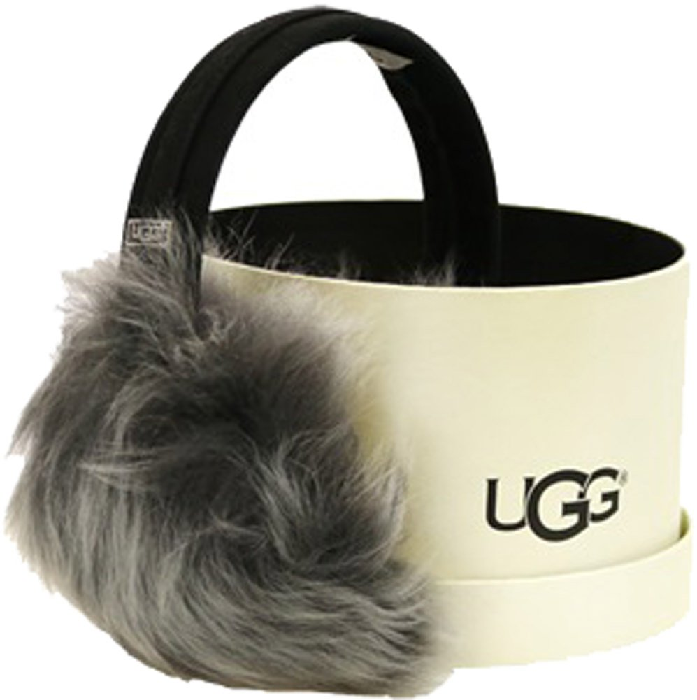 UGG Womens Toscana Pile Tech Earmuff in Black Leather Multi by UGG