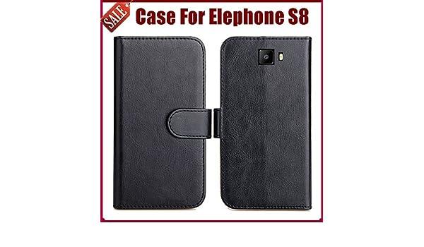 PREVOA Funda para Elephone S8 - Flip PU Funda Case Protictive para ...