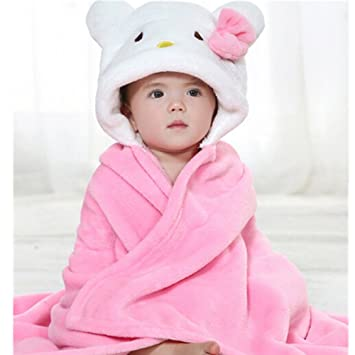 Amazon.com : EVTECH(TM) Spring Autumn Kid Baby Girl Boy Bathrobe Towel Cloak Ultra-soft Flannel Baby Blanket Suitable for 0-2 Years Old : Baby
