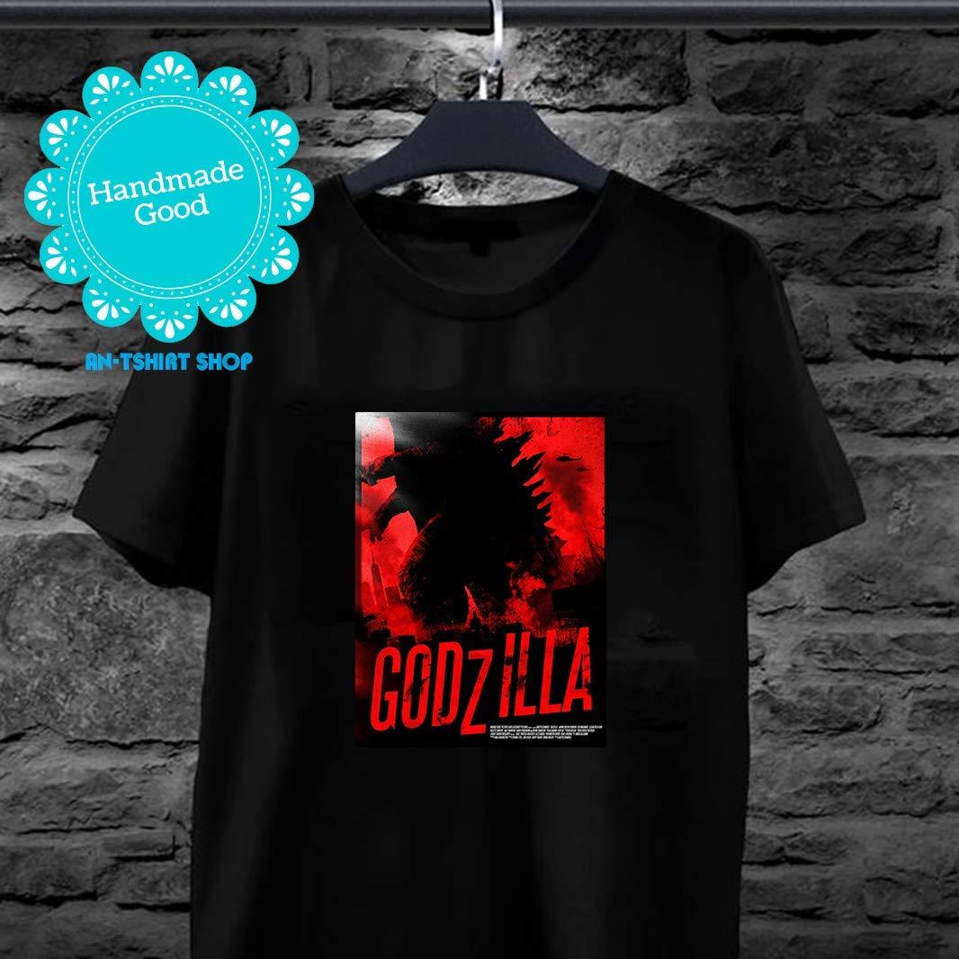 Godzilla King Of The Monster Red And Black Godzilla Poster Cool Godzilla Movie T For Men And Women Shirts