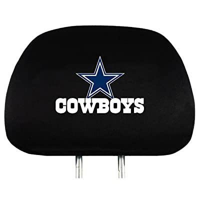 NFL Dallas Cowboys Head Rest Covers, 2-Pack: Sports & Outdoors