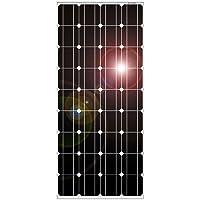 DOKIO 100W Panel solar Monocristalino para carga de batería de 12V