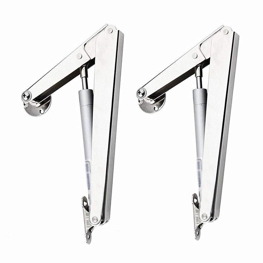 2Pcs 200N/44lb Gas Springs Lid Support Lift Support Heavy Duty Gas Hydraulic Spring Hinge Soft Close Down Lids Stay Support Safety Spring Stay Strut TATAMI Desk Toy Box Heavy Bench Lid Hinges Hardware