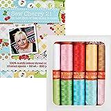 Lori Holt Sew Cherry 2 Aurifil Thread Kit 10 Small Spools 50 Weight LH50SC10