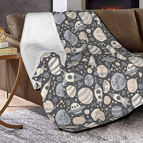 Blast Off Couverture polaire ultra douce et moelleuse pour canapé, lit et salon 127 x 101,6 cm