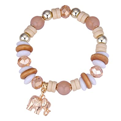 SLgai Damen Armband Geschenk Vintage Elefant Multi-Element Perlen ...
