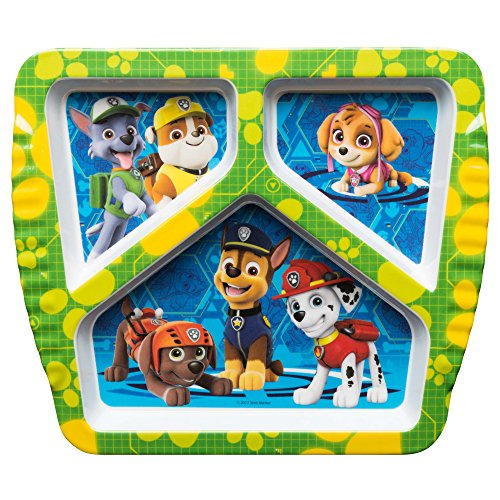 Nickelodeon PWPB-0010-C Paw Patrol Kids Divided Plates, 7.6