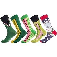 8a4bb98b5799 Bonangel Men's Fun Dress Socks - Colorful Funny Novelty Crazy Crew Socks  Packs with Cool Argyle